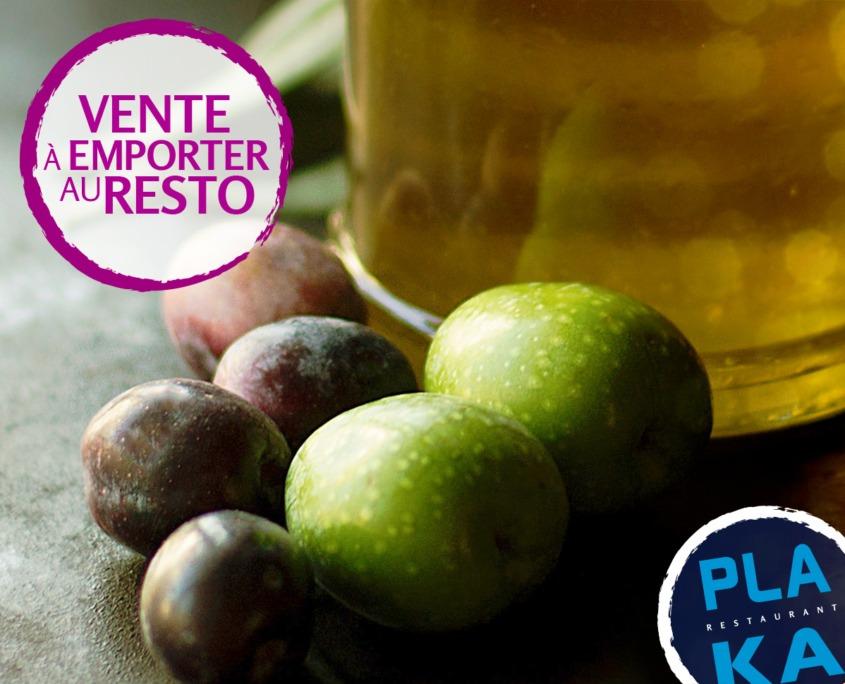 huile et olives de Grèce
