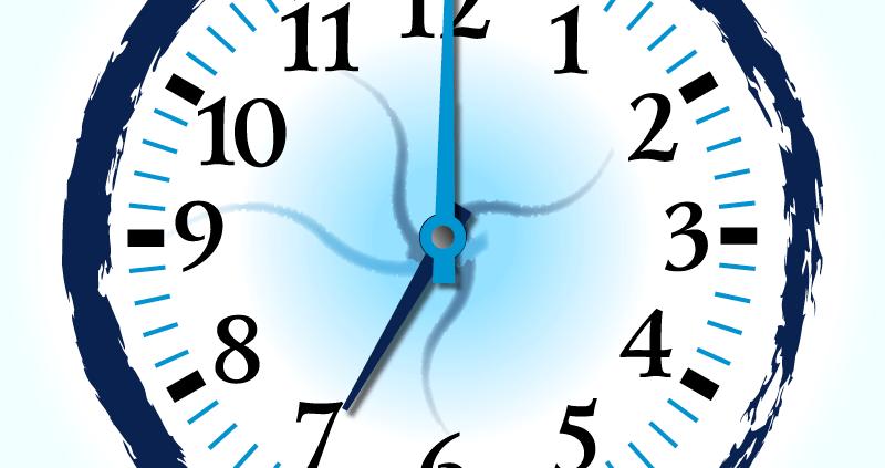 horloge folle dans le logo Plaka